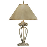 Wildwood Lamps Fancy Cage Table Lamp in Art Glazed Wrought Iron 10491 photo thumbnail
