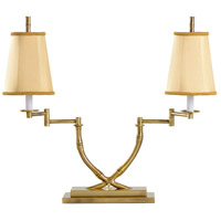 Wildwood Lamps 1158 Crossed 23 inch 60 watt Antique Brass Table Lamp Portable Light photo thumbnail