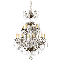 Iron 12 Light 33 inch Old Gold On Iron Chandelier Ceiling Light