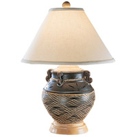 Wildwood Lamps Handles Plenty Table Lamp in Handmade And Decorated Pottery 11685