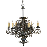Wildwood Lamps Signature Chandelier in Weathered Bronze 1176