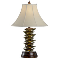 Wildwood Lamps Tiered Turtles Table Lamp in Handmade And Painted Iron With Fauxwood 11765