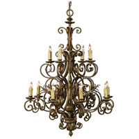 Wildwood Lamps Signature Chandelier in Old Gold On Iron 1177