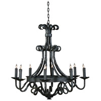 Wildwood Lamps Signature Chandelier in Wrought Iron Hammered 1178