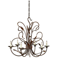 Wildwood Lamps Signature Chandelier in Rust Finish On Iron 1181