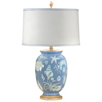 Wildwood Lamps Blue Sea Sea Shells Table Lamp in Hand Painted Porcelain 11836