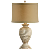 Wildwood Lamps Swirled Urn Table Lamp in Hand Decorated Composite In Old Worn White 11875