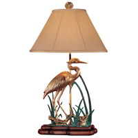 Wading Cranes 33 inch 100 watt Solid Brass Table Lamp Portable Light