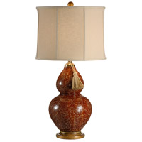 Wildwood Lamps Red Gourd Table Lamp in Hand Decorated With Crackle Effect 12504