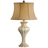 Discovery 35 inch 100 watt Hand Decorated Composite Table Lamp Portable Light