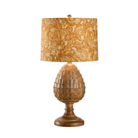 Wildwood Lamps Discovery Hand Carved Cone Lamp - Natural Finish 12514-2