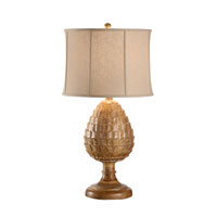 Wildwood Lamps Discovery Hand Carved Cone Lamp - Natural Finish 12514