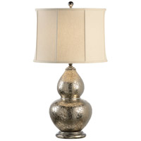 Wildwood Lamps Discovery 1 Light Gourd Vase Lamp Contemporary Glazed Porcelain Table Lamp in Old Dark Bronze 12516