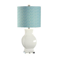 Wildwood Lamps Discovery 1 Light Bordered Urn Table Lamp in Art Glazed Euroceramic 12554-2