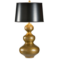 Discovery 34 inch 100 watt Hand Hammered Brass Table Lamp Portable Light