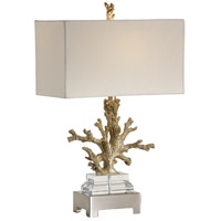 Coastal 26 inch 100 watt Brushed Brass Table Lamp Portable Light