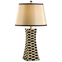 Wildwood Lamps Coastal 1 Light Pearls Pylon Lamp Mother Of Pearl Inlaid Table Lamp in Mother Of Pearl 13128