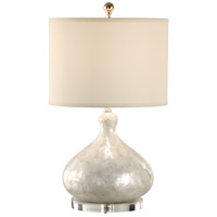 Coastal 24 inch 100 watt Hand Applied Shell Table Lamp Portable Light