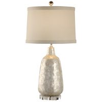 Coastal 27 inch 100 watt Hand Applied Capiz Shell Table Lamp Portable Light