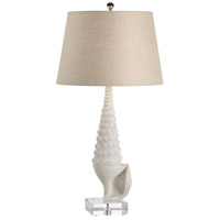 Coastal 35 inch 100 watt Texturedin Matte White Table Lamp Portable Light
