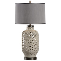Wildwood 13154 Jakarta 32 inch 100 watt Lichen and Bronze Table Lamp Portable Light