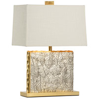 Kiawah 26 inch 100 watt Antique Silver Leaf and Antique Gold Leaf Table Lamp Portable Light