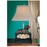Wildwood Lamps French Spaniel Fire Dog Table Lamp in Antique Bronze Patina 14052 photo thumbnail