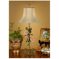 Wildwood Lamps Botanical Magazine Rose Table Lamp in Ironwork 14074 photo thumbnail