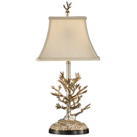 Wildwood Lamps Mt. Vernon Silver Coral Table Lamp in Antique Silver Plate 14135 photo thumbnail
