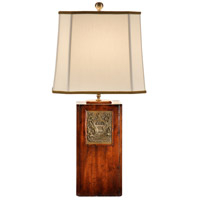Wildwood Lamps Georges Brass Bookplate Table Lamp in Old Walnut Finished Wood 14147