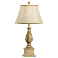 Wildwood Lamps Andiron Post Table Lamp in Hand Colored Gold Accents 14154