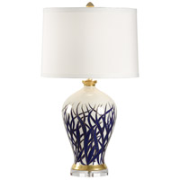 Mount Vernon 29 inch 100 watt Hand Painted With Gold Accents Table Lamp Portable Light