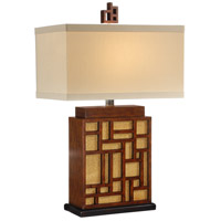 Wildwood Lamps Labarynth And Cane Table Lamp in Craftsman Made And Finished 15605