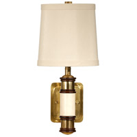 Wildwood Lamps Cream Column Wall Sconce in Solid Brass With Antique Patina 15624 photo thumbnail