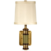 Wildwood Lamps Column Wall Sconce in Solid Brass With Antique Patina 15625