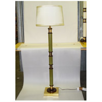 Wildwood Lamps Green Column Floor Lamp in Solid Brass With Antique Patina 15629 photo thumbnail