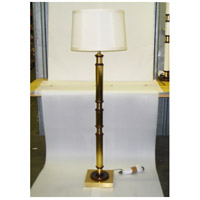 Wildwood Lamps Brass Column Floor Lamp in Solid Brass With Antique Patina 15631 photo thumbnail