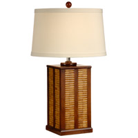Wildwood Lamps Inlaid Bamboo Table Lamp in Bamboo And Wood 15636
