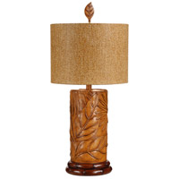 Wildwood Lamps Tropical Fronds Table Lamp in Hand Finished 15651