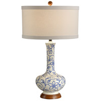 Wildwood Lamps Simple Vine Of Flowers Table Lamp in Hand Painted Lacquer On Composite 15662 photo thumbnail