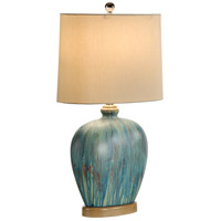 Wildwood Lamps Drip Glaze Oval Table Lamp in Driftwood Finish Mounting 15665