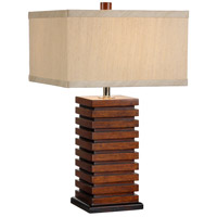 Wildwood Lamps Stacked Squares Table Lamp in Craftsman Made And Finished 15666