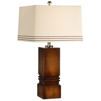 Wildwood Lamps Tommys Box Table Lamp in Black Mahogany Wood Finish 15673