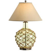 Wildwood Lamps Net Float Green Table Lamp in Tinted Glass 15678