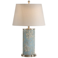 Wildwood Lamps Hibiscus Cylinder Lap Table Lamp in Brushed Nickel Accents 15679