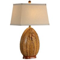 Wildwood Lamps Nested Fronds Table Lamp in Carribean Mahogany Finish 15689