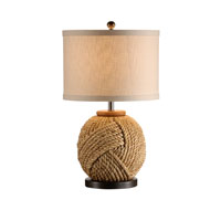 Wildwood Lamps Tommy Bahama Hand Wrapped Natural Materials Monkeys Fist Lamp - Old Bronze Finish Mounting 15698