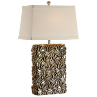 Wildwood Lamps Tommy Bahama 1 Light Swirl Of Shells Lamp Table Lamp in Hand Inlaid Real Shells 15710