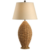 Wildwood Lamps Tommy Bahama 1 Light Rope In Oval Lamp Woven Natural Materials Table Lamp in Woven Rattan 15711