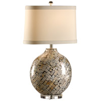 Wildwood Lamps Tommy Bahama 1 Light Cabibi Shell Lamp Table Lamp in Inlaid Shell Fragments 15724